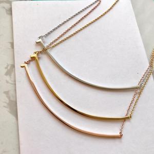 Gelin için bayan Tasarım kadınlar Parti düğün severler hediye takı için pullar Popüler moda paslanmaz çelik altın gülümsemek kolye bijoux var