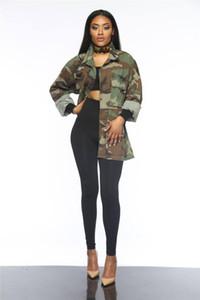 Femmes Trench Bouton long Lapel Designer Petit ami Coats style Vêtements pour femmes E.U.A. Armée Camouflage