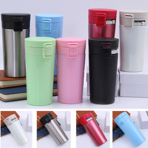 Stainless Steel Water Bottle Tumbler Tea Mug Coffee Insulation Mug Vacuum Bottle Travel Camping Party Milk DrinkCup With Lid 380ML HH9-2129