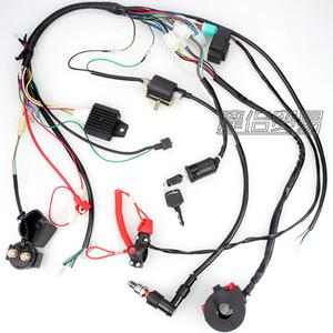 Completa Electrics cablagem bobina CDI de velas Kits Para 50cc 70cc 90cc 110cc 125cc 140cc ATV Quad Pit Dirt Bike Buggy Go kart