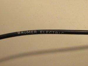 BAUMER ELECTRIC ES 9 3 ES9 FIO cabo conector