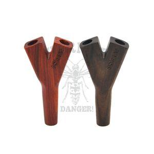 """""""Stoner"""" titular de cigarro de madeira cano duplo preminum nutural madeira artesanal fumar tubos de erva """"hornet"""" titular do cone de cigarro de madeira"""