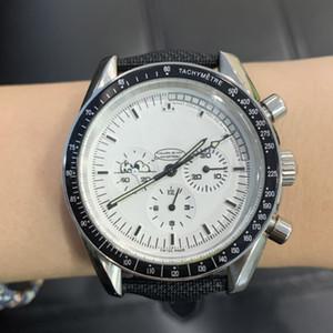 2020 Mens relógio de nylon mens quartzo série relógios VK snoopy relógio de pulso de couro pulseira de relógios de cerâmica
