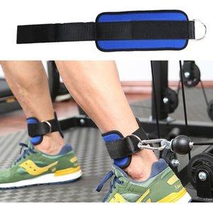 Fitness D-ring avec boucle cheville Boucle Body Building Résistance Band Gym Cuisse Leg Menottes Puissance Haltérophilie Fitness Corde