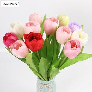 JAROWN Artificial Tulip Flower Silk Flowers Falso Flor Simulação Colorido Para Casamento Casa Party Decoration Acessório