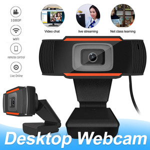 Webcams Camera Full HD 1080p webcams com chamada de vídeo de microfone para PC laptop com caixa de varejo