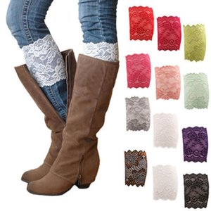 1 Pair 9 Colors New Women Lady Girls Elastic Stretch Flower Lace Boot Cuffs Trim Toppers Socks Decoration