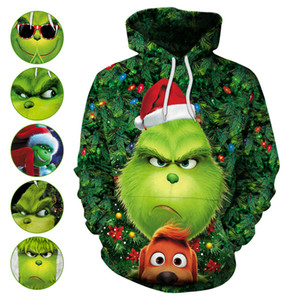 6 colori M-XXL Uomini Donne Il Grinch 3D Print Hoodie Come il Grinch Stole Christmas Graphic Tops 60.386.602,076201 millions