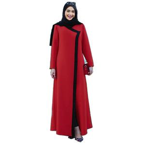 Abaya vestido casual mola muçulmana outono 2018 mulheres patchwork maxi vestido longo Vintage Oman roubas