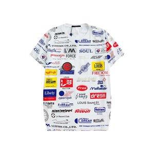 T para hombre del diseñador de la camiseta de manga corta estilista de caramelo color de camuflaje alrededor del cuello de manga corta camiseta de los hombres y las mujeres de los hombres