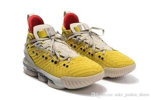 L16 HFR brillante Cumbre Citron blanca para hombre de los zapatos de baloncesto J16s HFR cabeza de león amarilla del tamaño para hombre Deporte Entrenador 7-12
