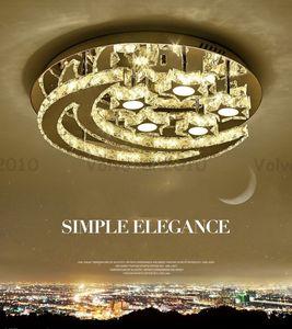 Modern Tasarım Kristal Led Tavan Kapalı Salon Yatak odası Lustres Tavan Lambaları Home For LLFA için Ay Yıldız Light Armatür Işıklar