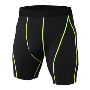 Men's Exercise Gym Shorts Pro Quick-dry Sportswear Running Bodybuilding Skin Sport Training Fitness Compression Shorts with Bodybuildi