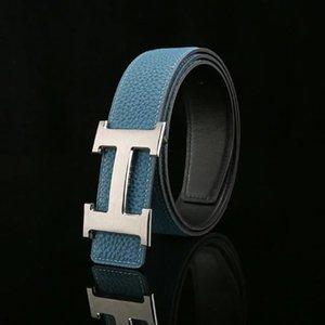 Classical Brass Belt Luxurys Designer he̴rmes S GG Pearl Buckle Belts For Mens Woman Girdle Jeans Waist Belt box