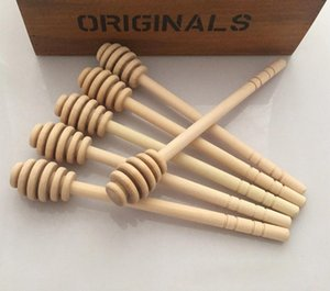 Honey Stick Honey Dippers accesorios de cocina 8 cm Mini Fuente de madera para el partido Cuchara Stick Honey Jar Stick DH0172
