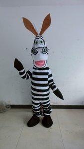 Горячие продажи костюма маскот полюсная звезда белая и черная лошадь талисман костюмы маскировка зебры