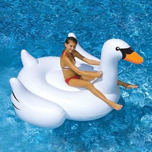 150CM 60 pollici Giant Swan Gonfiabile Da Corsa Piscina Giocattolo Galleggiante gonfiabile Swan Pool Swim Ring Vacanza Acqua Divertimento Giocattoli