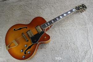 Прибытие г Л5 пользовательские джазовой гитары Кес Archtop полу полый электрическая гитара оранжевый цвет в наличии бесплатная доставка