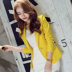 Fashion Spring summer Women Slim Suit Blazer Coat Female Casual Jacket Long Sleeve One Button Lady Blazers Solid Work Wear