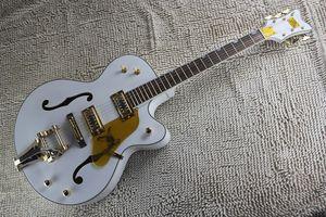 Free shipping Custom Factory Falcon Bianco 6120 Semi corpo cavo Jazz coreano sintonizzatori della chitarra elettrica con tremolo