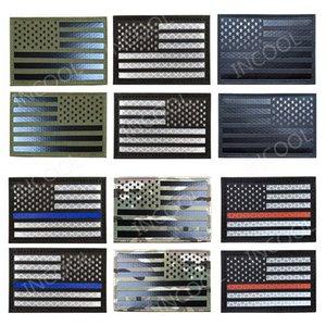 PVC amerikan ABD FLAG Taktik Rozet Moral Yamalar Hook yansıtıcı Döngü 3D Nakış Ordu Rozetleri dikmek yama 081 üzerinde