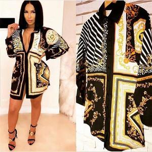 Donne allentate colorata estate camicette Hot stampa geometrica Donna Maglie designer di abbigliamento femminile sexy di nuovo arrivo