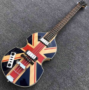 En kaliteli İngiliz bayrağı Hof Keman 4 dizeleri Elektrik bas gitar BB-02 Simge Serisi Alev akçaağaç bağbozumu CT bas gitar ücretsiz gönderim