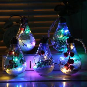 Bola de Navidad transparente Bombilla LED de luz decorativa del árbol de Navidad que cuelgan del bulbo decorativo boda fiesta de cumpleaños ligera de la decoración LED