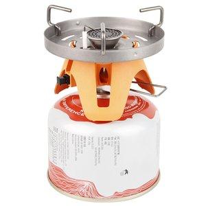 Camping Cuisinière brûleur à gaz extérieur Batterie de cuisine 1400ml Heat Exchanger Marmite Systerm pique-nique Cuisine Équipements Cuisinière Tourisme
