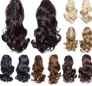 """moda 12 """"Extensiones onduladas cortas Garra En Cola De Caballo Sintético Negro Marrón Rubio Mujer Hairpiece Hair Ptailtail"""