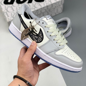 Qualität DIOR Air Oblique AJ1 B23 B24 Jordan 1 Kanye West Oblique Slipper High Top Sport Low KAWS Kim Jones Hommes Femme Basketball Sneakers Damen Herren Schuhe