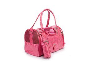 Portable Outdoor Pet Cat Dog Carrier Bag Leather Travel Small Dog Carrying Bag Handbag