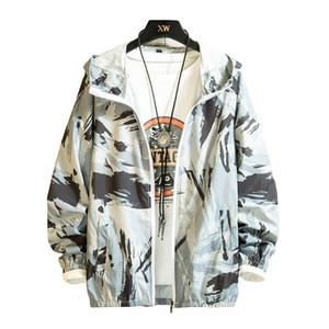 Men Jacket 2019 Thin Coat Fashion Male Women Sun Protection Clothing  Men'S Jacket Spring Autumn Hooded 4X