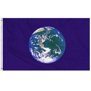 Earth Day Flag Umwelt zu schützen Flaggen 0,9m x 1,5m Fliegen hängend mit zwei Messingringe, freies Verschiffen