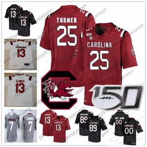 Personalizzato 2019 Gamecocks College Football 13 Shi Smith 25 AJ Turner 34 lun Denson 89 Bryan Edwards 20 Kevin Harris NCAA Jersey 150 °