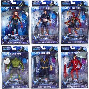 Yeni varış Avengers 4 Marvel Aksiyon Figürleri Sürpriz Kaptan Thanos bebekler Işık ses ve hareketli Karikatür oyuncaklar ile Ses
