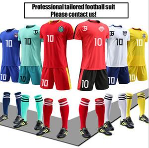 Nouveaux maillots de formation uniformes personnalisés de printemps costume de football pour adultes enfants nouveau camp d'entraînement de jeu imprimé numéro imprimé respirant court Slee