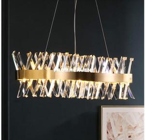 Pendente di cristallo Bronze moderna di cristallo Nordic lampada a sospensione moderna Decora Cucina Sala Pendant Ristorante Light camera da letto soggiorno Lights