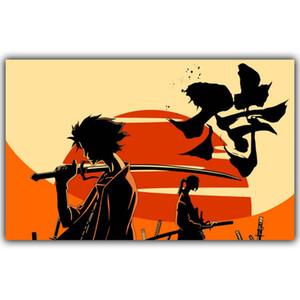 Samurai Champloo Anime Mugen e Jin Art Silk Print Poster 24x36 pollici (60x90cm) 154