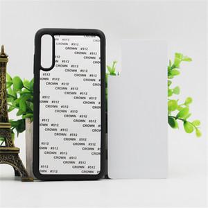 téléphone blanc 2D Sublimation TPU + PC couverture de cas pour Samsung Remarque 20 S20 Ultra S10 plus S10E Note 9 10 S9 S8 A70 A50