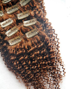 Clip In Human Hair Extensions Remy Brazilian Kinky Curly Clip Ins 8Pcs Set 100G Need 1-3 Sets Human Hair Bundl10-36 Inchs