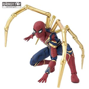 Avengers dos desenhos animados Infinito Guerra Homem-Aranha De Ferro PVC Action Figure boneca modelo toy