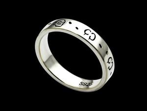 Europäische und amerikanische Mode Titan Stahl G Brief schmalen Schädel Ring Mode paar einfachen Ring Männer und Frauen