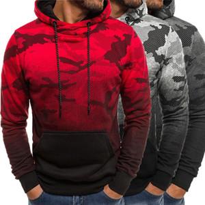 2020 CALDE del Mens Hoodies Felpa a maniche lunghe con cappuccio Camouflage con cappuccio Uomini Pullover Inverno Jumpers Felpa Top Coat Outwear