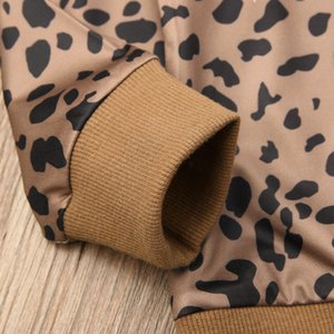 Newborn Kid Baby Girls Leopard O-Neck Long Sleeve Shirt Tops Blouse Sweater Sweatshirt Clothes