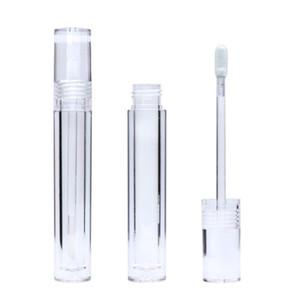 Vacío 7,8 ml Lipgloss tubos redondos cristalino transparente brillo de labios tubos con la varita vaciar brillo de labios tubos transparentes envío rápido F3864