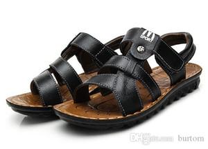 Scarpe in pelle di alta qualità Wholesale-2019 dei bambini dei capretti ragazzi ragazzo Sandali estivi per ragazzi maschile scarpe da tennis trasporto libero