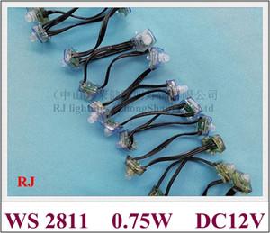 WS 2811 светодиодный пиксель светодиодный модуль светодиодные выставленные легкие строки 0,75 Вт DC12V 25 мм * 20 мм * 22 мм квадратный диаметр нижнего диаметра Открытое отверстие размером 12 мм