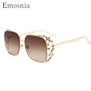 Emosnia Praça Steampunk Sunglasses Modis Diamante Pedra Feminino 2019 Mulheres Marca óculos de sol