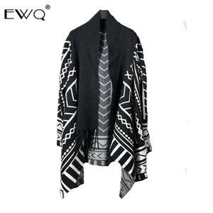 Ewq / design Tide Pathcwork Asymétrie Kintting Windbreaker Personnalité casaque pour les hommes et les femmes 2020 Spring New 9Y37601